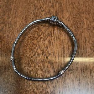 Jewelry - Pandora lock sterling silver 7.9 bracelet